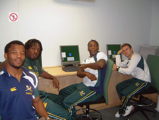 Springbok Sevens team being tested