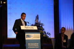 Dr Patricios addressing the 5th International Conference in Concussion in Sport, Berlin, October 2016